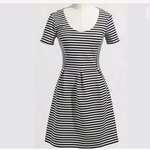 J. Crew Stripe Scoop Neck Short Sleeve Dress